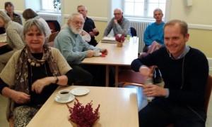 Christian Jensen til bords med Kate Bluhme, mangeårig medarbejder på Ekstra Bladet.