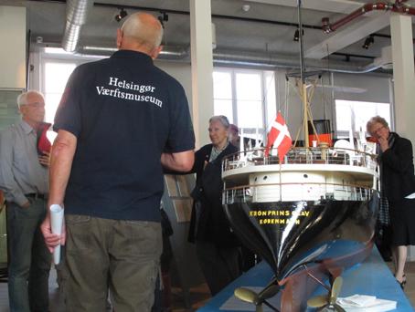 Dagen sluttede med besøg på Helsingør Værftmusseum. Foto: Finn Hillmose.