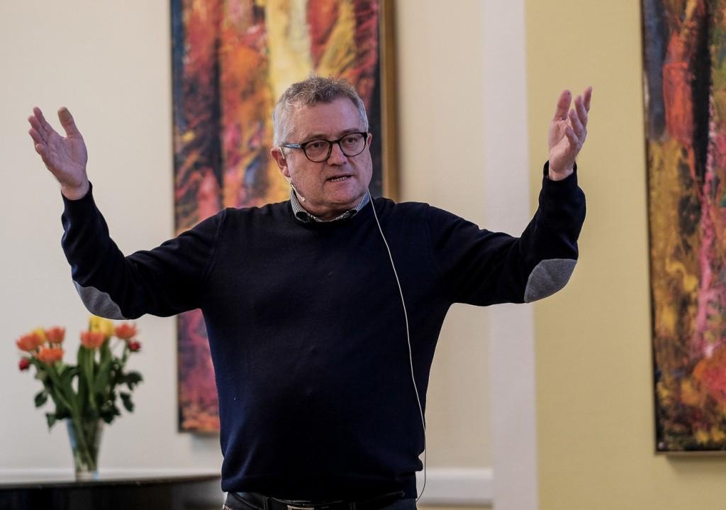 Per Westergaard mente, at fremtidens medier ikke blot skulle fremlægge problemer, men også komme med bud på løsninger. Foto: Peter Høvring.