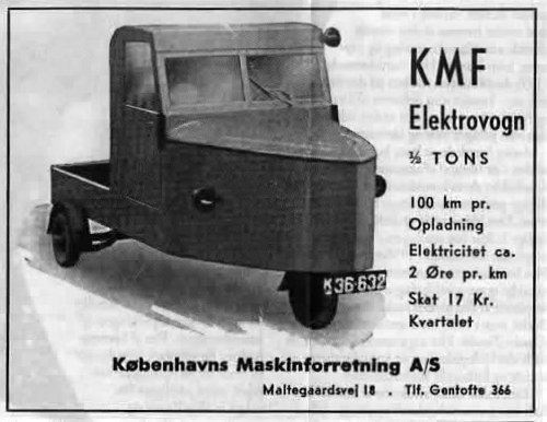 """En af de første """"selvbevægelige vogne"""" - en Daimler. Bilen blev prøvekørt i Danmark i 1896."""