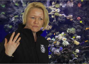 Direktør Dorte Gleie bød velkommen og fortalte om Den Blå Planet og forventningerne. Foto: Finn Hillmose