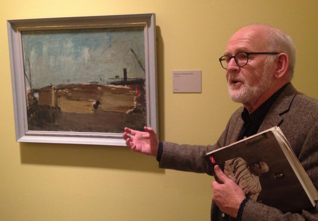 """Billedet hedder """"Tømmer ved havnen"""", Nils Bjervig fortæller. Foto Nikolaj Ifversen."""