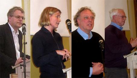 Peter Mose, Anna Libak, Stig Andersen og Egon Clausen.