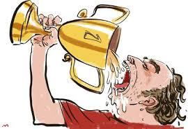 """""""At drikke sig i hegnet"""" eller drikke sig """"plakatfuld"""" eller… Slangbordbogen har omkring 100 ord for at """"få en lille én på""""."""