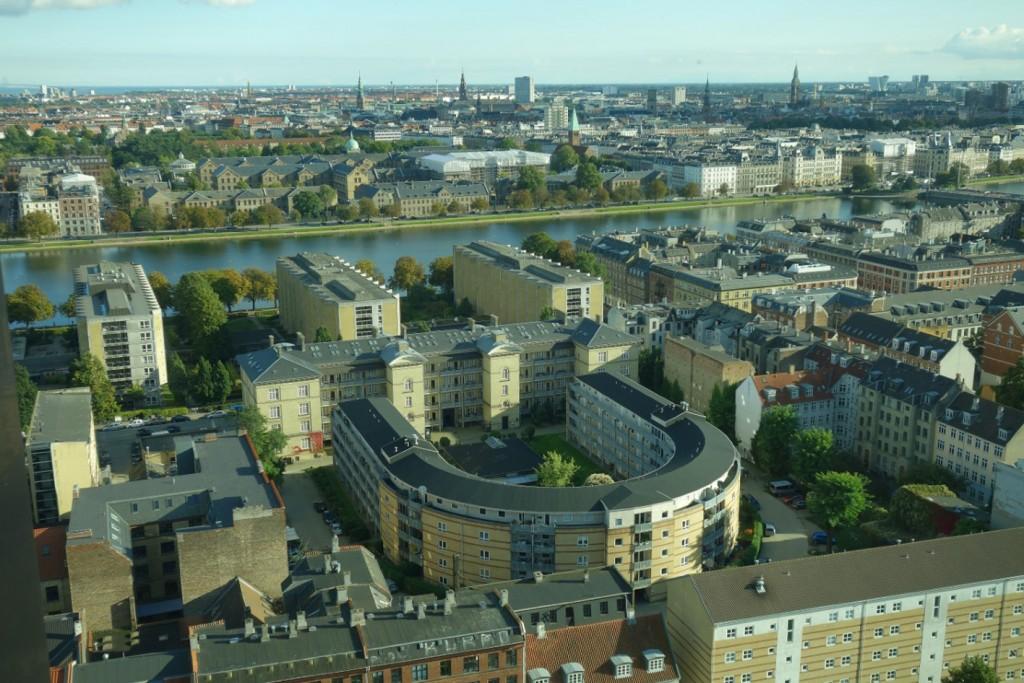 Den fantastiske udsigt fra toppen over Købehavn.